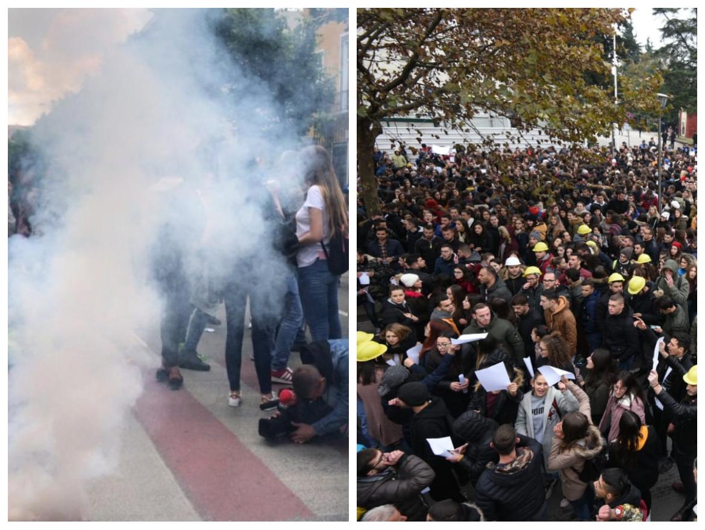 Dhuna si diferenca mes protestës së studentëve dhe protestës së militiantëve