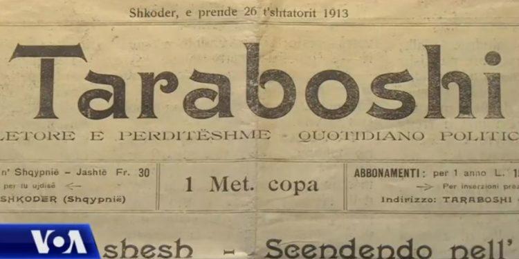 Numri i parë i gazetës shqiptare Taraboshi gjendet në Bibliotekën e Kongresit amerikan