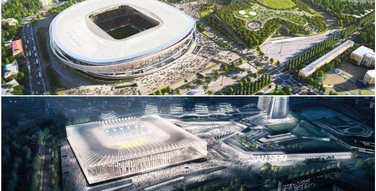 VIDEO/ Pamje magjike dhe i rrethuar me kulla, Inter dhe Milan zbulojnë projektin e stadiumit të ri