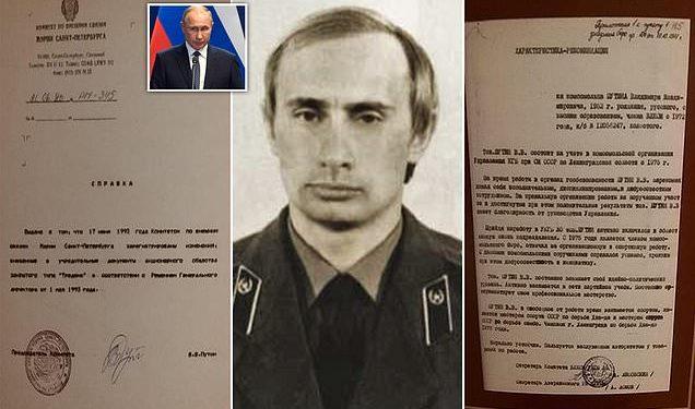 """FOTO/ """"Punonjës i disiplinuar"""", Publikohen dosjet që zbulojnë se si Putin vlerësohej kur hyri në KGB"""