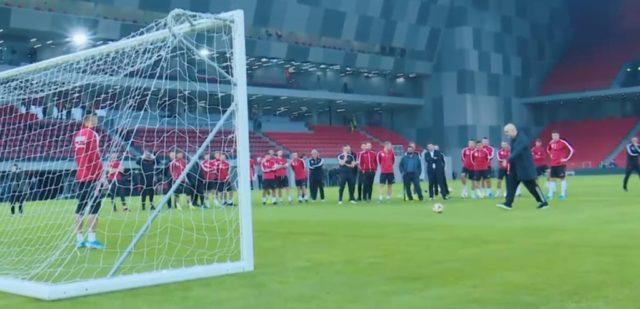 """Rama bën golin e parë në """"Air Albania Stadium"""", batuta me Kombëtaren: Nesër të jepni shpirtin këtu (Video)"""