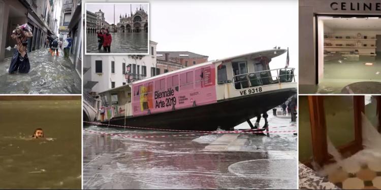 VIDEO+FOTO/ Përmbytje 'apokaliptike', kryebashkiaku i Venecias: Dy të vdekur, e gjitha nga ngrohja globale