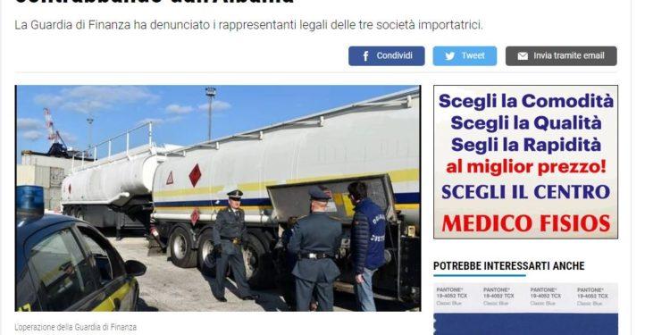 Mediat italiane: Bllokohen 163 mijë litra naftë shqiptare